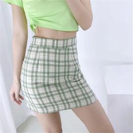 High Waist Sexy Side Plaid Skirt  NSAC38923