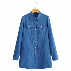 Fashion Slim Lapel Temperament Denim Dress  NSAM38953