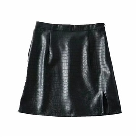 Crocodile Pattern High Waist Skirt  NSLD39011
