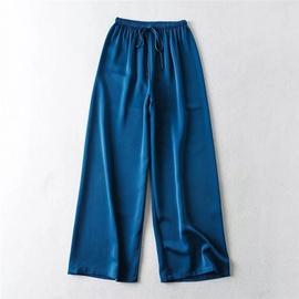 Elastic Waist Drawstring Wide-leg Pants NSLD39025