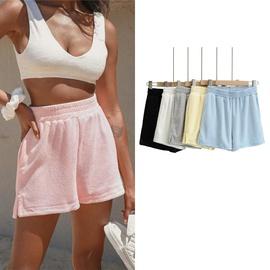 Elastic Waist Side Slit Sports Shorts  NSLD39037