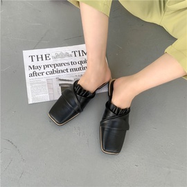 Fashion Wrinkled Soft Leather Shoes NSHU39094
