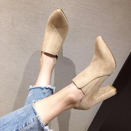 Elastic High-heeled Ankle Boots  NSHU39117