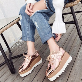 Lace-up Casual Single Shoes  NSHU39121