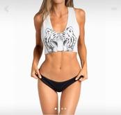 Estampado De Moda Sexy Traje De Baño Dividido NSHL39153