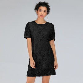 Loose Round Neck Lace Short-sleeved Dress  NSJR39182