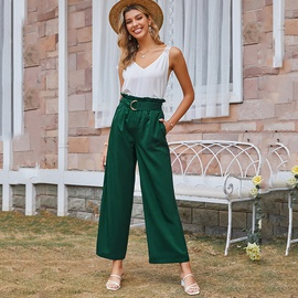 Solid Color Casual Pocket Straight Leg Pants NSDF39252