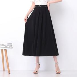 High-waistbig Swing Black Skirt NSYZ39259