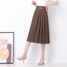 Classic High Waist A-line Midi Skirt NSYZ39261