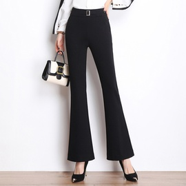 Elastic High Waist Breathable Micro-flared Pants   NSYY39266