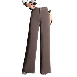 High-waist Drape Casual Wide-leg Pants  NSYY39269