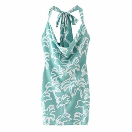 Sexy Printed Sling Halter Dress  NSAM46175