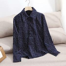 Retro Corduroy Floral Shirt  NSAM46193