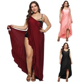 Large Size Ruffled Beach Skirt NSOY46252
