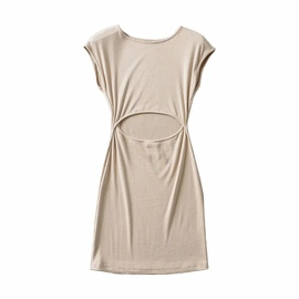 Hollow Sexy Sleeveless Elastic Solid Color Dress NSHS46271