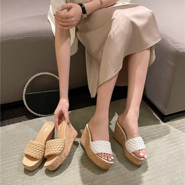 Woven Strap Wedges Sandals NSSO46292