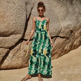 Sleeveless Sling V-neck Long Dress  NSLM46372