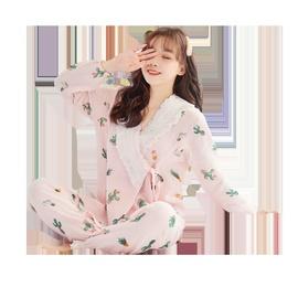 Breathable Cotton Gauze Maternal Postpartum Pajamas NSXY46557