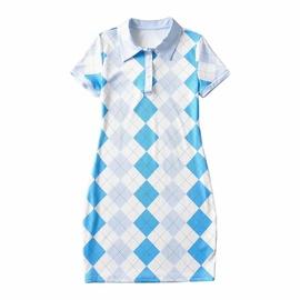 Plaid Printed Lapel Dress  NSHS46594