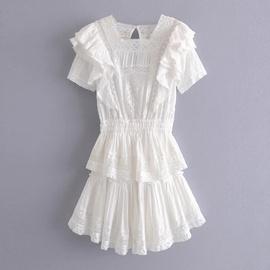 Multi-layered Ruffled Dress  NSAC46663