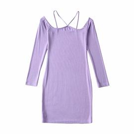 Adjustable Suspender Slim Hanging Neck Dress NSAC46673