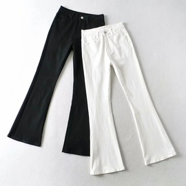 Spring New Solid Color High Waist Jeans NSHS46727