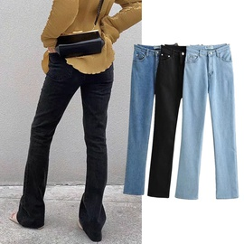 Thin New High-waist Denim Pants NSHS46781