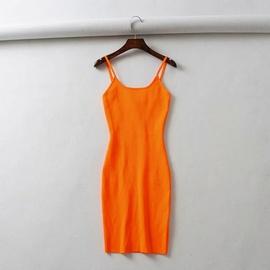 Sleeveless Tight-fitting Vest Dress   NSHS46949