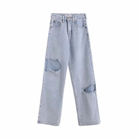 Loose Summer Thin Denim Pants NSHS46751
