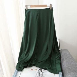 High Waist Drape Double Layer Skirt NSAM39287