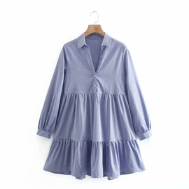 Long Sleeve Shirt Dress NSAM39289