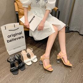 Fashion Woven Thick Heel Sandals NSHU39336