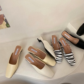 Simple Low-heel Muller Shoes NSHU39338
