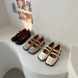Fashion Simple Flat Small Leather Shoes NSHU39360