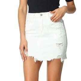Raw-edge Denim Skirt  NSSY39362