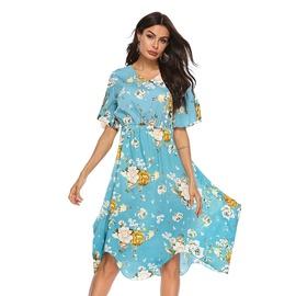 V-neck Chiffon Dress  NSAL39383