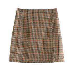 Casual Simple Short Plaid Skirt  NSLD39416