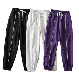Elastic Waist Solid Color Sports Pants  NSLD39419