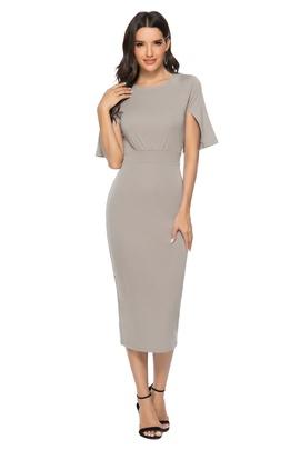 Fashion Round Neck Open-sleeved Dress NSLM39467