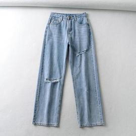 High Waist Ripped Jeans  NSAC39570