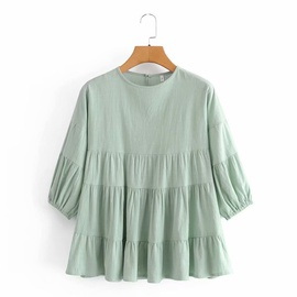 Round Neck Pullover Shirt  NSAM39601