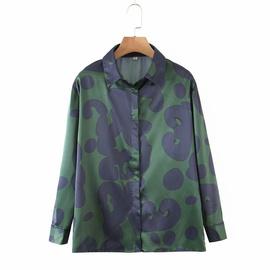 Abstract Painting Printing Long-sleeved Shirt  NSAM39609
