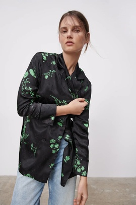Double-breasted Jacquard Shirt NSAM39611