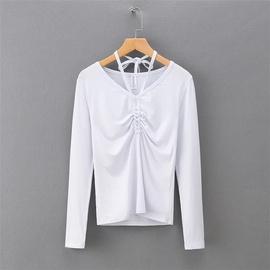 Casual Simple Long-sleeved Slim Bottoming Shirt NSLD39687