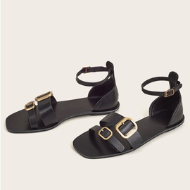 One-word Buckle Casual Fashion Sandals  NSHU39716