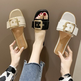 Flat-heel Square Toe Sandals NSPE39732