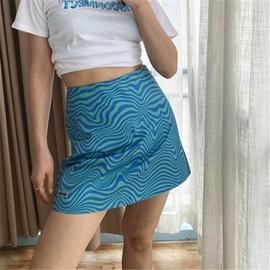 Water Ripple Tight-fitting High-waist Printed Skirt  NSHS39740