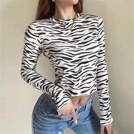 Zebra Print Bottoming Shirt  NSHS39741