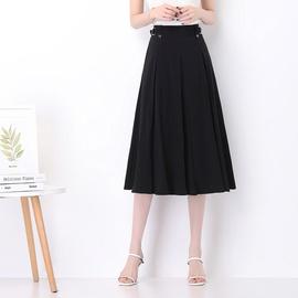 High-waisted Drape Slim Mid-length Skirt   NSYZ39749