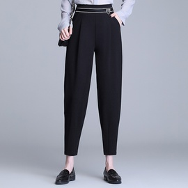 Elastic Waist New High Waist Loose Nine-point Pants NSYZ39755
